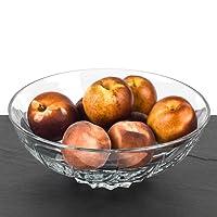 RCR 25125020006 Twist Crystal Glass Decorative Centrepiece Fruit Bowl, 30 cm