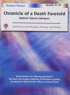 chronicle of a death foretold teacher guide by novel units inc  chronicle of a death foretold student packet teachers guide