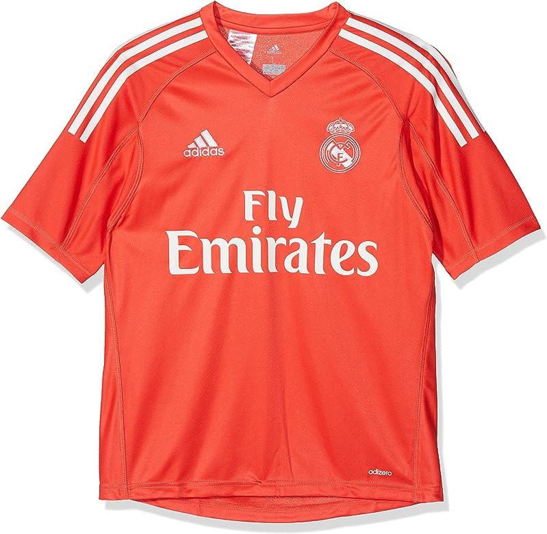 adidas A Gk JSY Y Camiseta de equipación - Línea Real Madrid, Niños, Rojo (Rojbri/Blanco), 128: Amazon.es: Ropa y accesorios