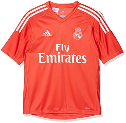 check out f286d b0667 Amazon.com : adidas Real Madrid Away Boys Goalkeeper Jersey ...