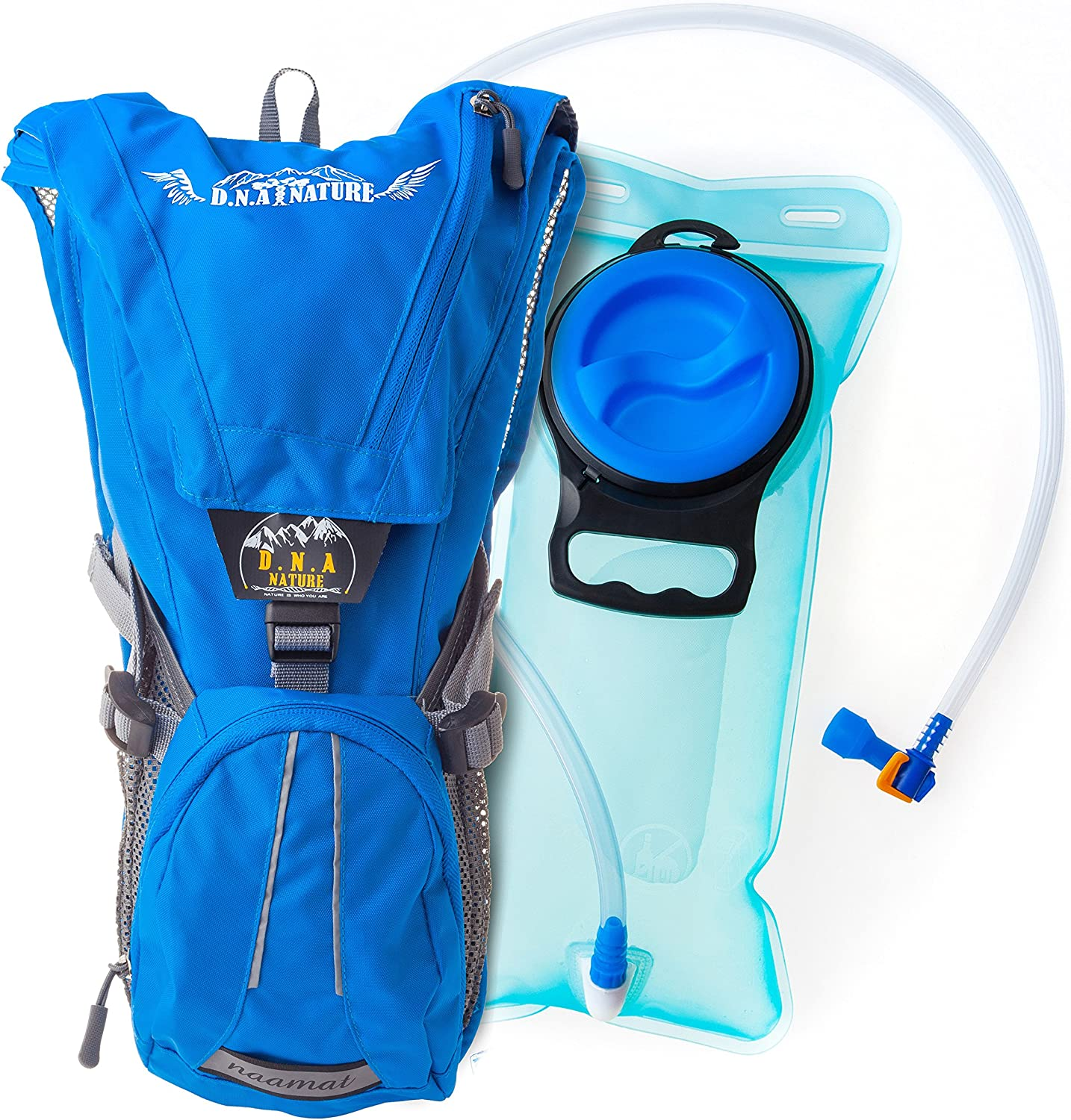 Unafreely Hydration Pack Backpack Water Bladder Bag with 2 Liter Water Bladder,for Cycling Hiking Hydration Pack Rucksack Travel Camping