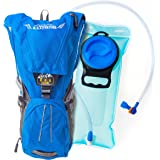Hydration Backpack Pack With 2L Water Bladder For Men,Women and Kids,Best For Sport,Running,Hiking,Cycling ,Skiing,Biking,Camping With Waist &Chest Straps,Waterproof BPA FREE,Camel Backpack,Blue color