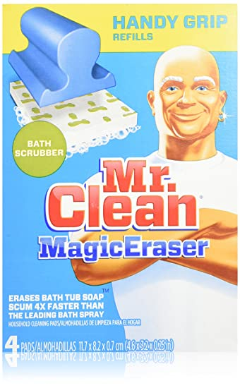 Amazon Com Mr Clean Magic Eraser Handy Grip Bath Refills 4 Count