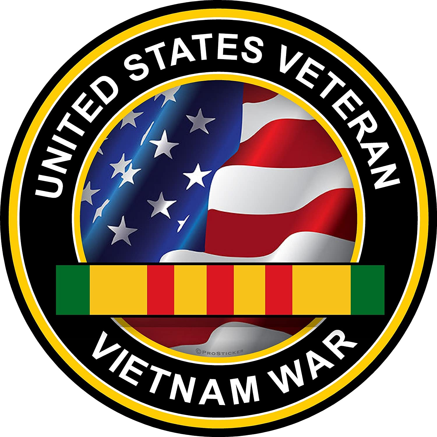 ProSticker 1070V (One) Patriot Series United States Veteran, Vietnam War Military Anchor Decal Sticker (4