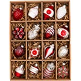 Glass ball decorations are fancy and delicate that can help to increase the value of your Christmas tree. <br> Each bauble is equipped with metal hooks and easy to hang on any tree.<br> Greatly match our red white Christmas decorative items like Christmas wreath and shatterproof plastic baubles set.