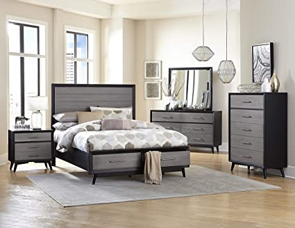 Amazoncom Ranberg Mid Century Modern 5pc Bedroom Set E King