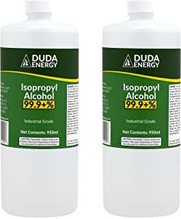 product image for 2 x 950ml Bottles of 99.9+% Pure Isopropyl Alcohol Industrial Grade IPA Concentrated Rubbing Alcohol 0.50 Gallons