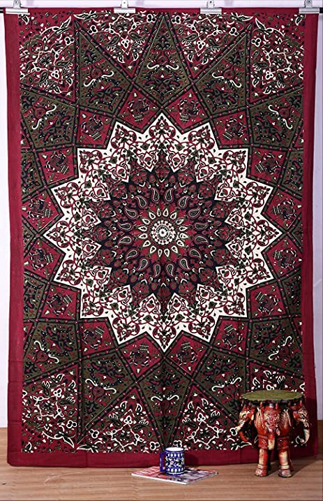 Indian Dark Star Hippie Tapestry, Beach Sheet, Hanging Wall Art, Wall  Tapestries For