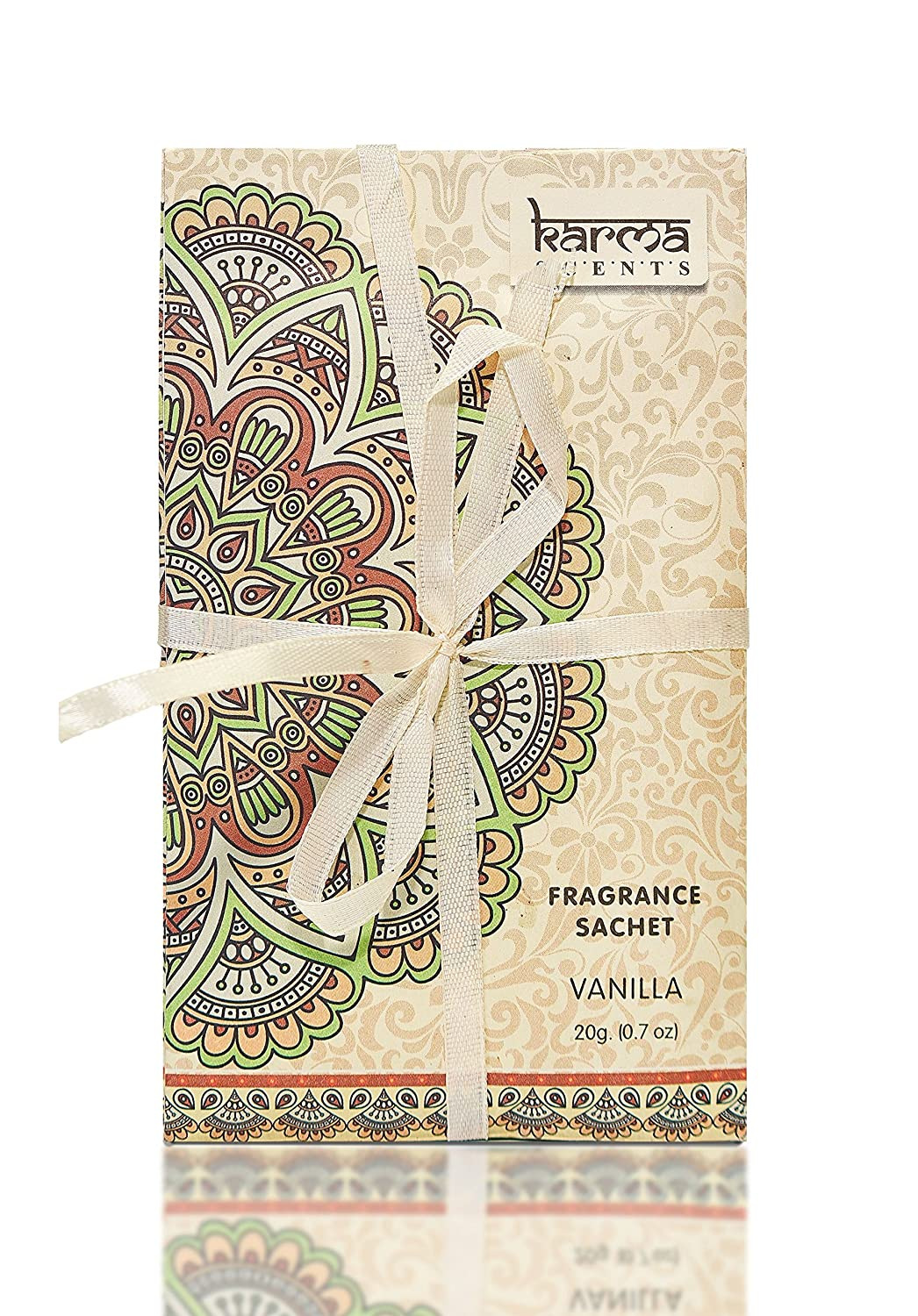Premium Vanilla Scented Sachets for Drawers, Closets and Cars, Lovely Fresh fragrance, Lot of 12 Bags, By Karma Scents