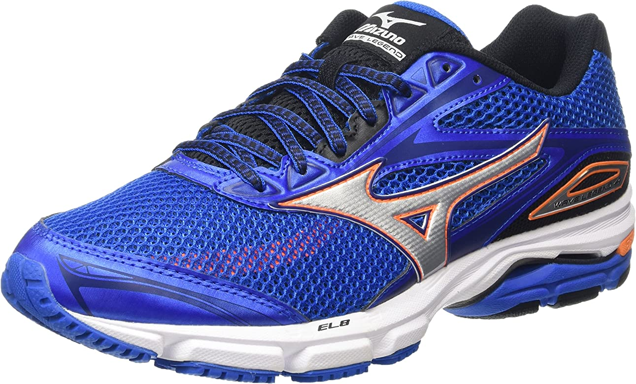 Mizuno Wave Legend 4 - Zapatillas de running Hombre, color blue (skydiver/silver/clownfish), talla 46 EU: Amazon.es: Zapatos y complementos