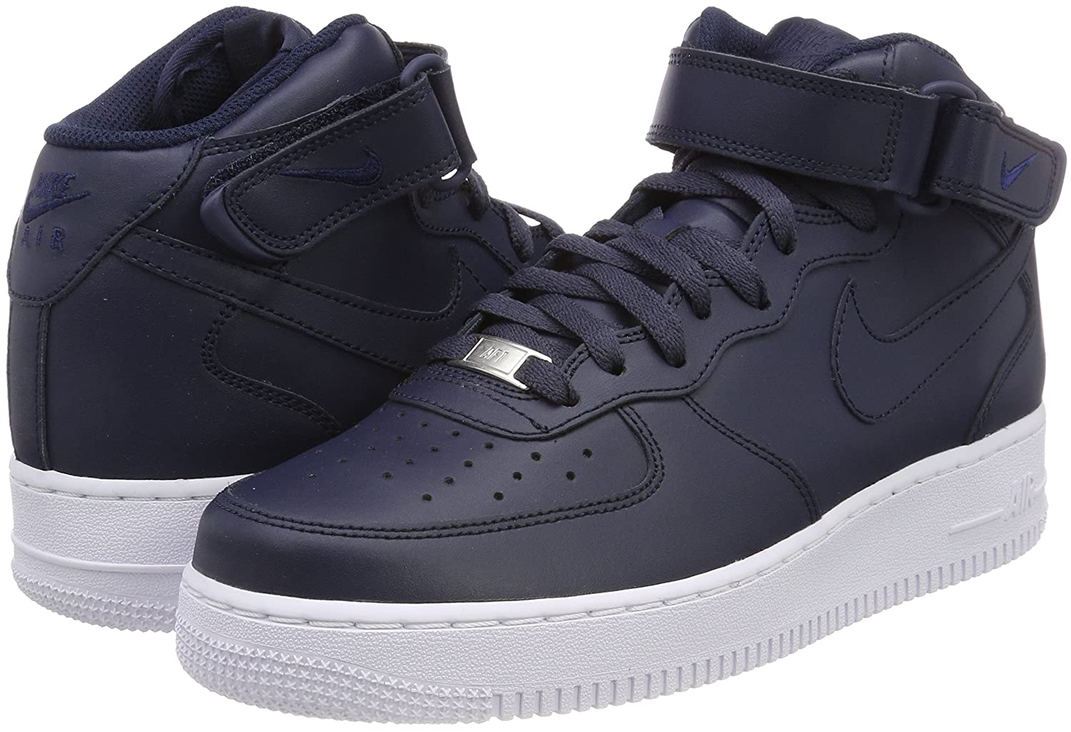 Nike Air Force 1 Mid '07 Men's B07921249H 12 D(M) US|Obsidian / Obsidian-white