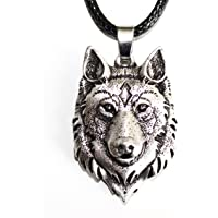 Wolf head Necklace Fox Jewel Viking - Animal Totem of Courage and Strength - Tribal Symbol Celtic Rune Hunting - Original Gift Unisex Man Unisex