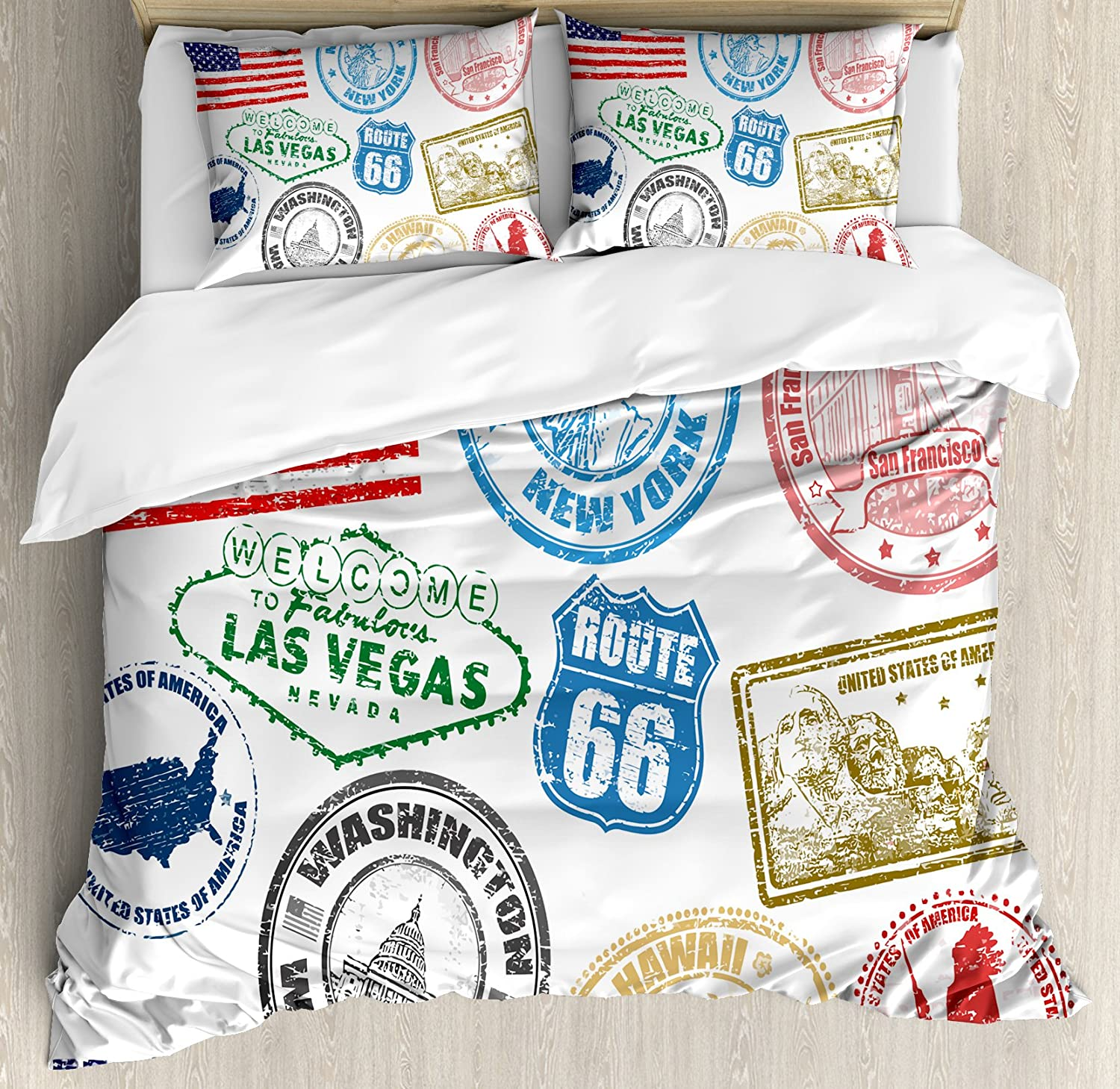 New Modern San Francisco Duvet Quilt Cover Bed Set With Pillow Cases All Sizes
