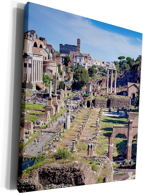 3dRose Danita Delimont - Ruins - Roman Forum, Rome, Unesco World Heritage Site, Latium, Italy, Europe - Museum Grade Canvas Wrap (cw_277635_1)