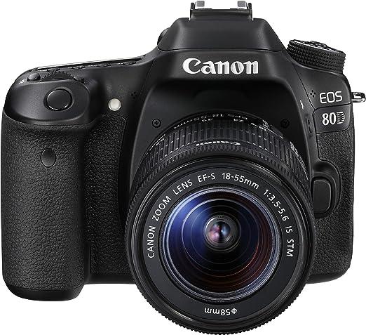 Canon EOS 80D - Cámara réflex digital de 24.2 MP (pantalla táctil ...