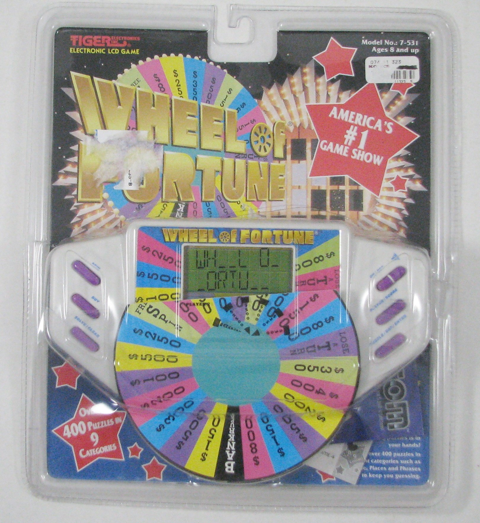 Wheel of Fortune By Tiger Electronic Handheld Game Model 7-531 by Tiger