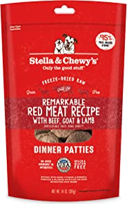 Stella & Chewy's Freeze-Dried Raw Dandy Lamb Dinner Patties Grain-Free Dog Food, 14 ounce bag