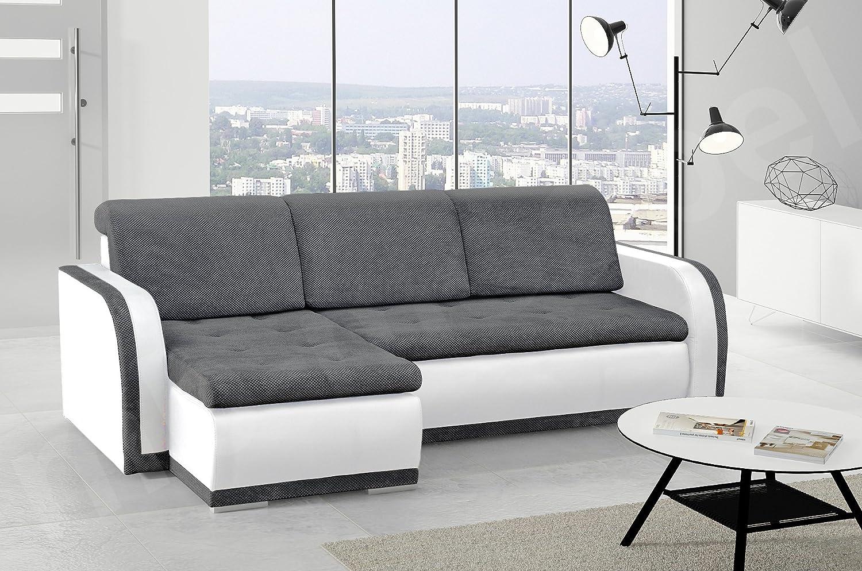 mb-moebel Kleines Ecksofa Sofa Eckcouch Couch mit Schlaffunktion und ...