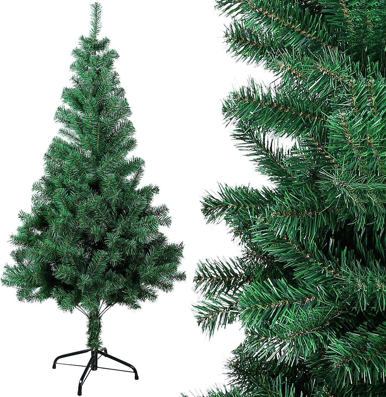 OZAVO Árbol de Navidad Artificial de Pino(Verde 150cm 400 Ramas),Arboles Decoración Navideña,Maxi-Relleno PVC Abeto,Soporte Metálico
