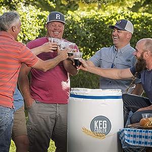 """Powerblanket PBICEKEGIP Powerblanket Ice Keg Cooler, 1/2 Barrel Beer Keg Insulated Ice Pack Cooling Blanket, 65.75"""" Length, 1"""" Height, 26.25"""" Width, White"""