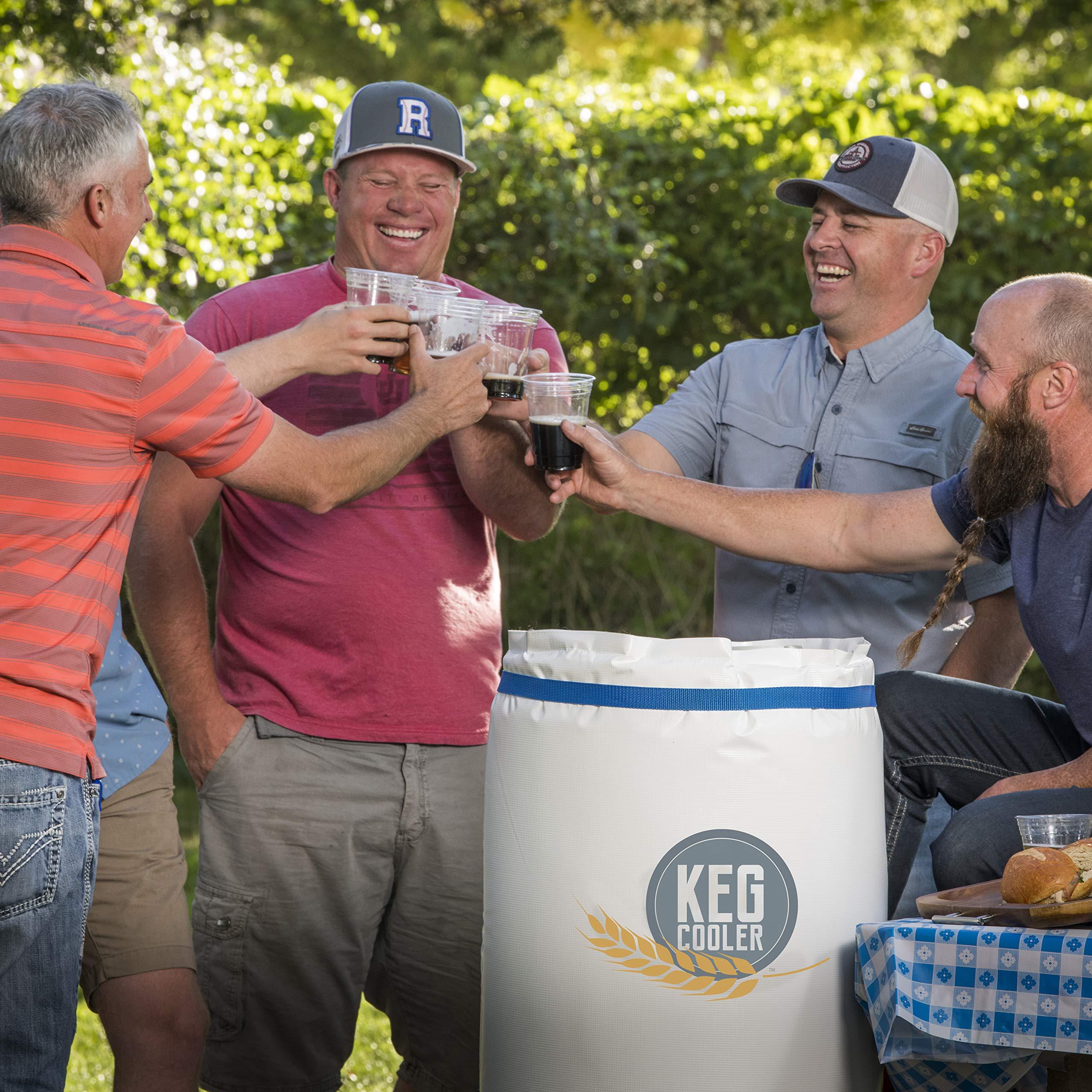 Powerblanket PBICEKEGIP Powerblanket Ice Keg Cooler, 1/2 Barrel Beer Keg Insulated Ice Pack Cooling Blanket, 65.75'' Length, 1'' Height, 26.25'' Width, White
