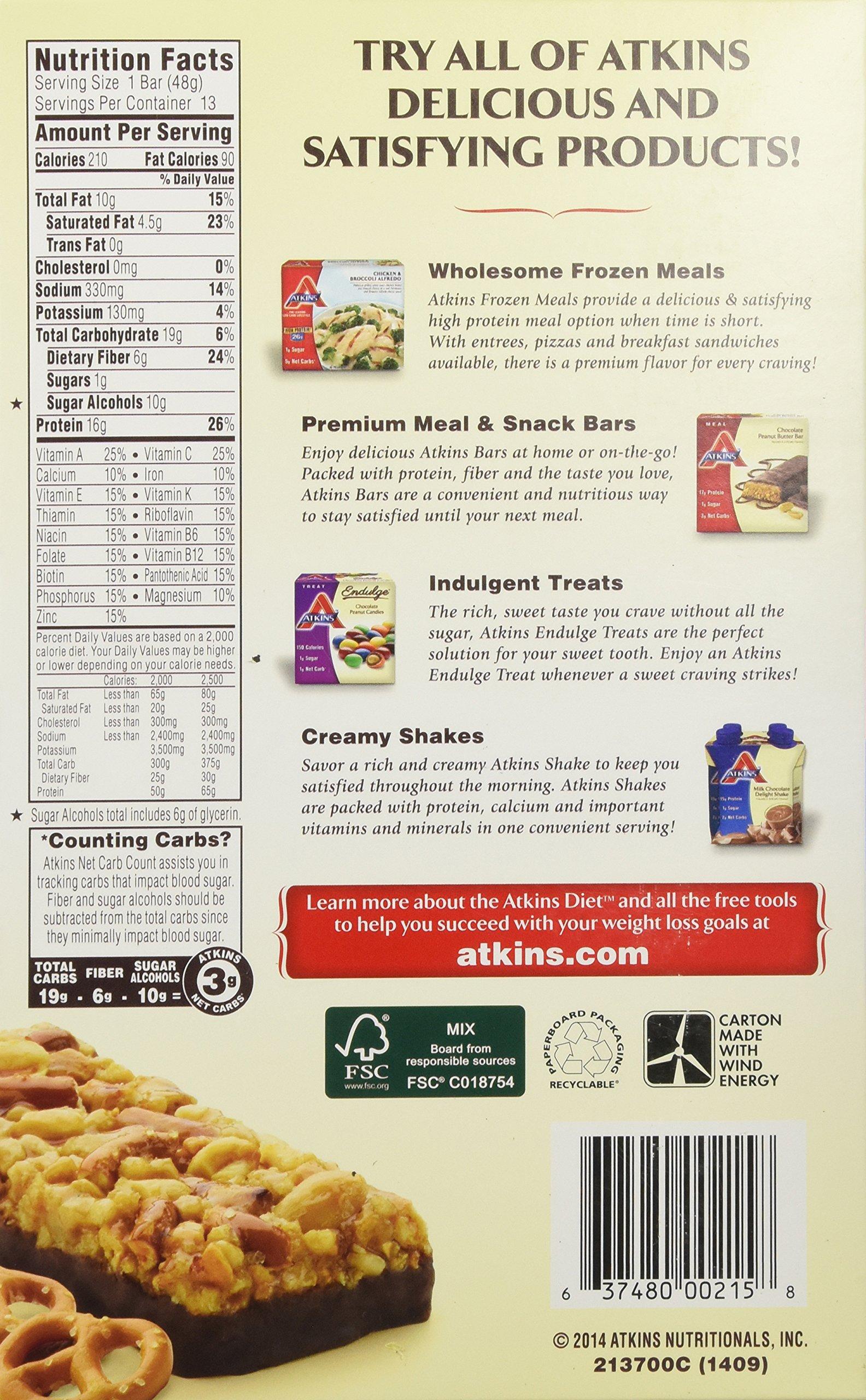 Atkins Chocolate Peanut Butter Pretzel Bar, 13 Count by atkins (Image #5)