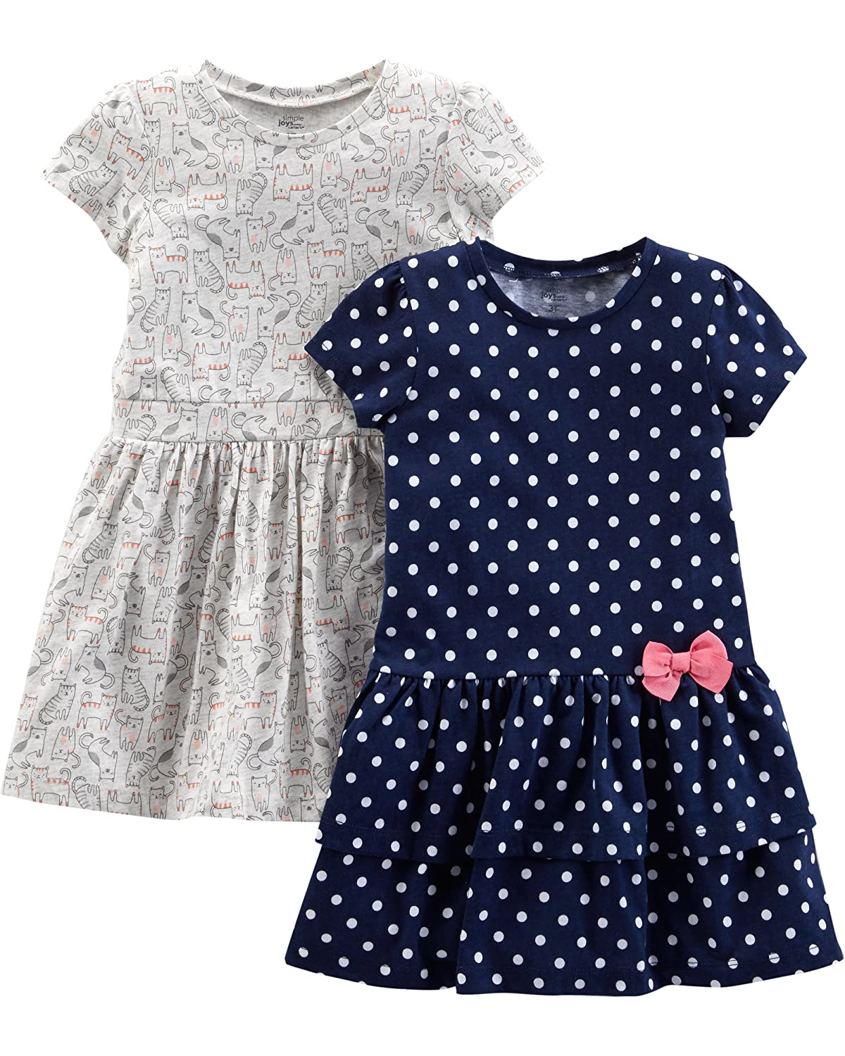 Simple Joys by Carter's Baby and Toddler Girls' 2-Pack Short-Sleeve and Sleeveless Dress Sets Simple Joys by Carter' s