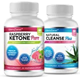 Raspberry Ketone and Colon Cleanse Detox Combo - UK Manufactured High Quality Supplement - Vegetarian & Vegan friendly – Top Selling Raspberry Ketone - Amazing Value Order Today from a Well Known Trusted Brand (60x Raspberry Ketone Pure + 60x Colon Cleanse Detox)