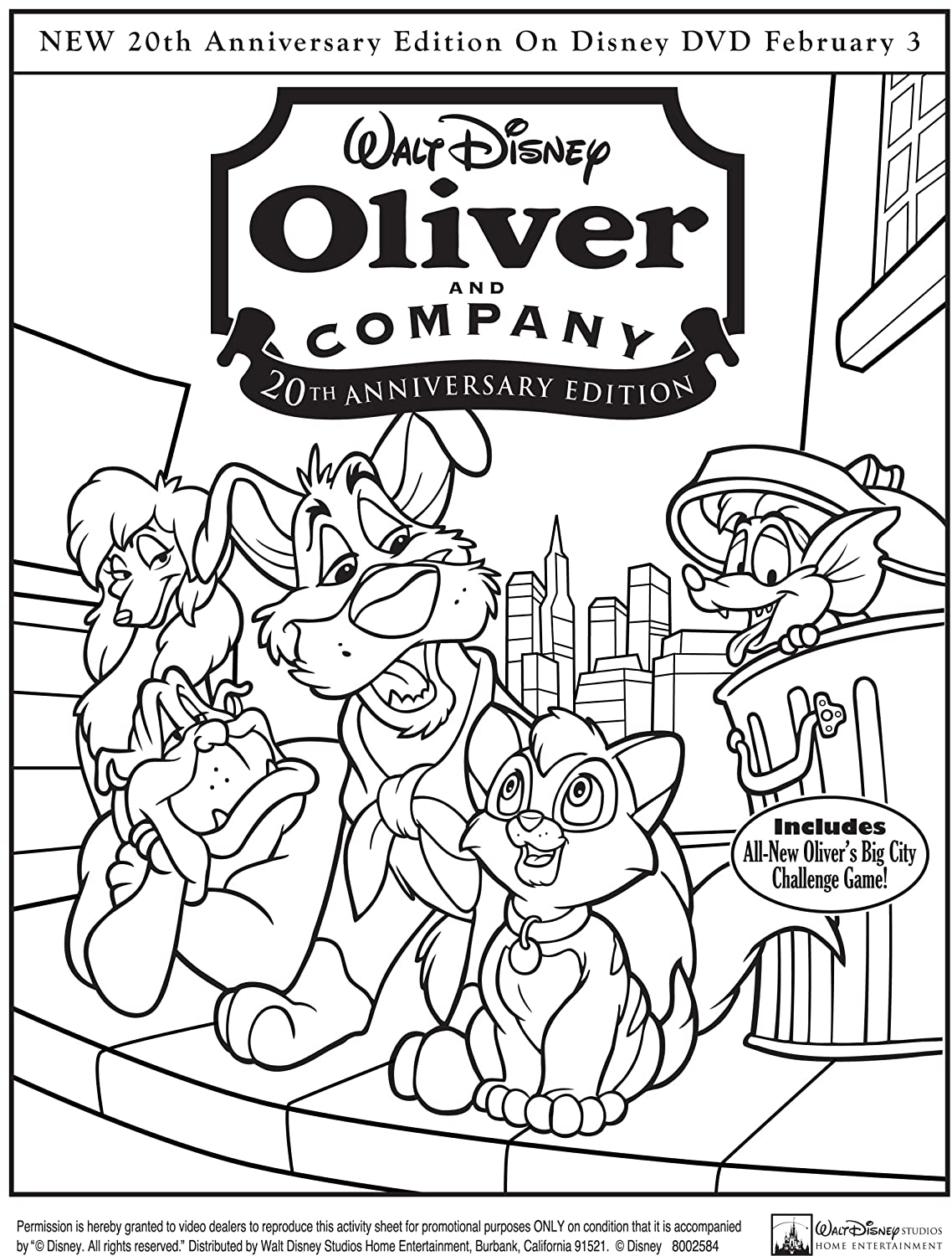 Uncategorized Oliver And Company Coloring Pages amazon com oliver and company 20th anniversary edition taurean blacque roscoe lee browne natalie gregory billy joel joey