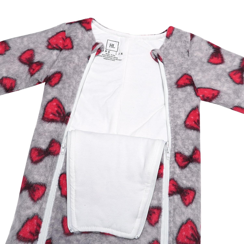 YXD Cute Baby Boys Girls Newborn Zipper Sleepsuit Footless Infant Cotton Sleeper Toddler Warm Winter Pajamas Jumpsuit Clothes
