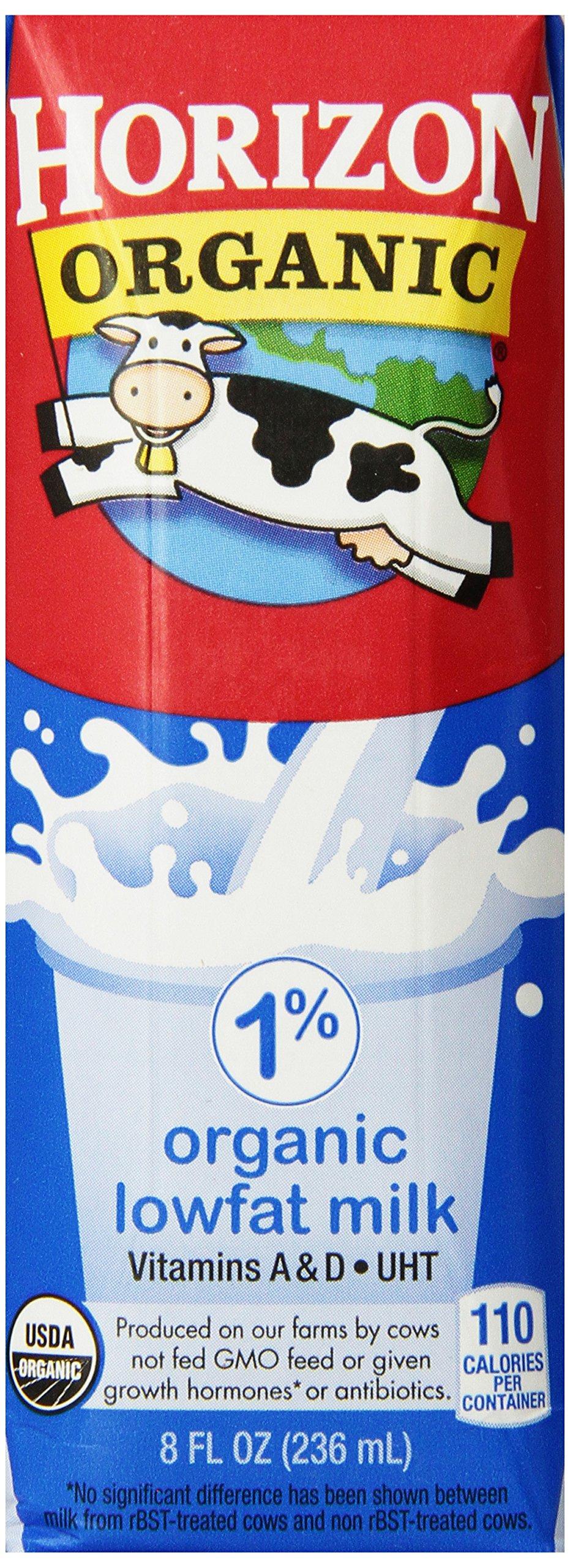 Horizon Organic Milk,  8 Ounce ,18 Count