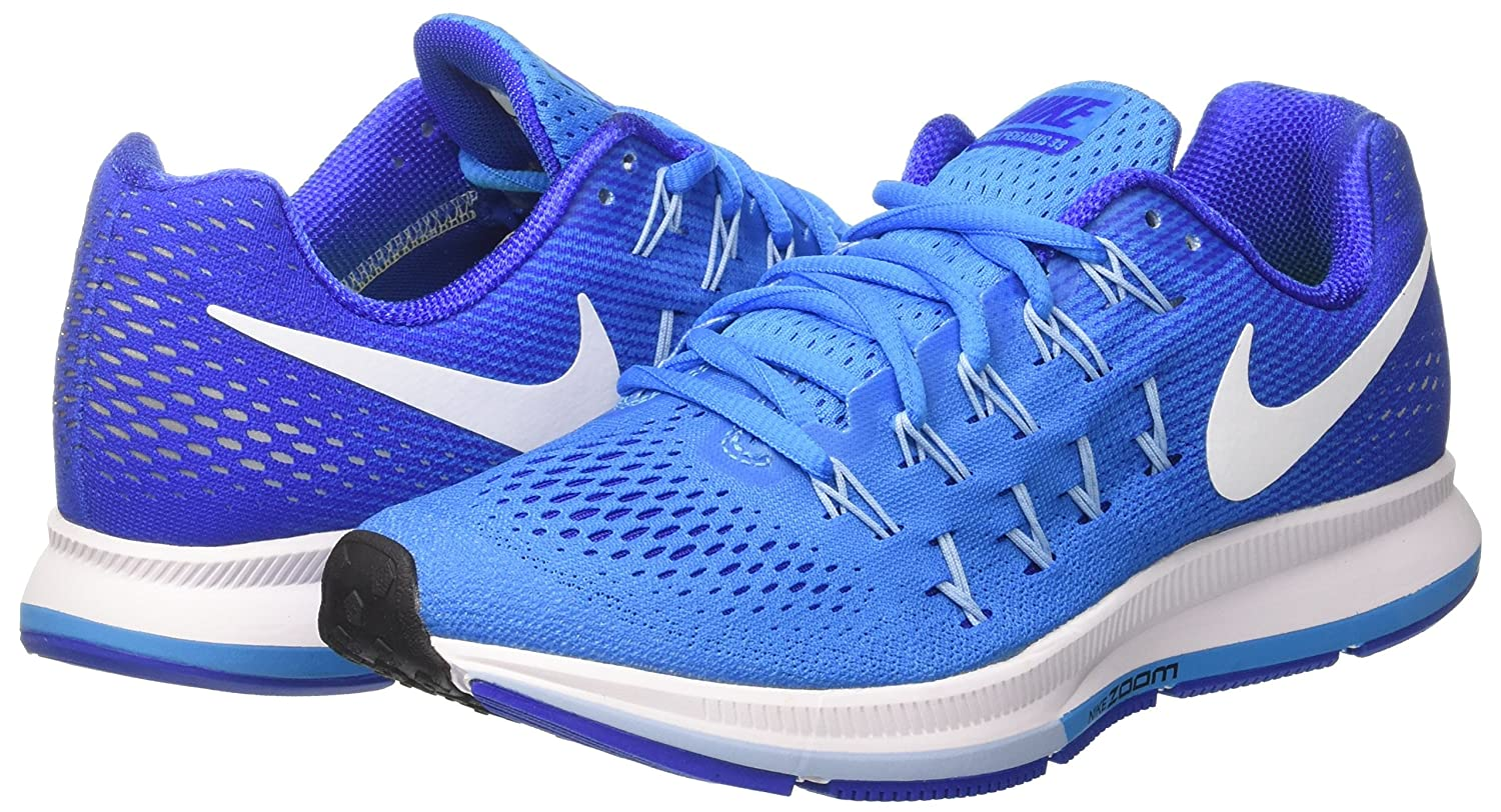 NIKE Women's Air Zoom Pegasus 33 B019DSCDFO 9.5 B(M) US|Blue Glow/Racer Blue/Bluecap/White
