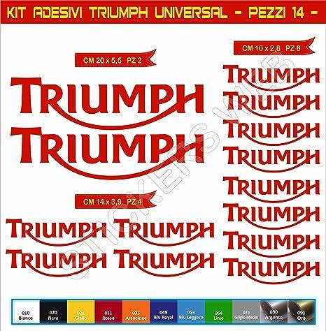Adesivi stickers TRIUMPH UNIVERSALE moto motorbike Cod.0637