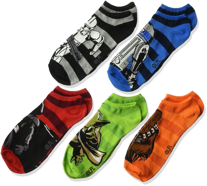 Disney Boys Star Wars 5 Pack No Show Socks
