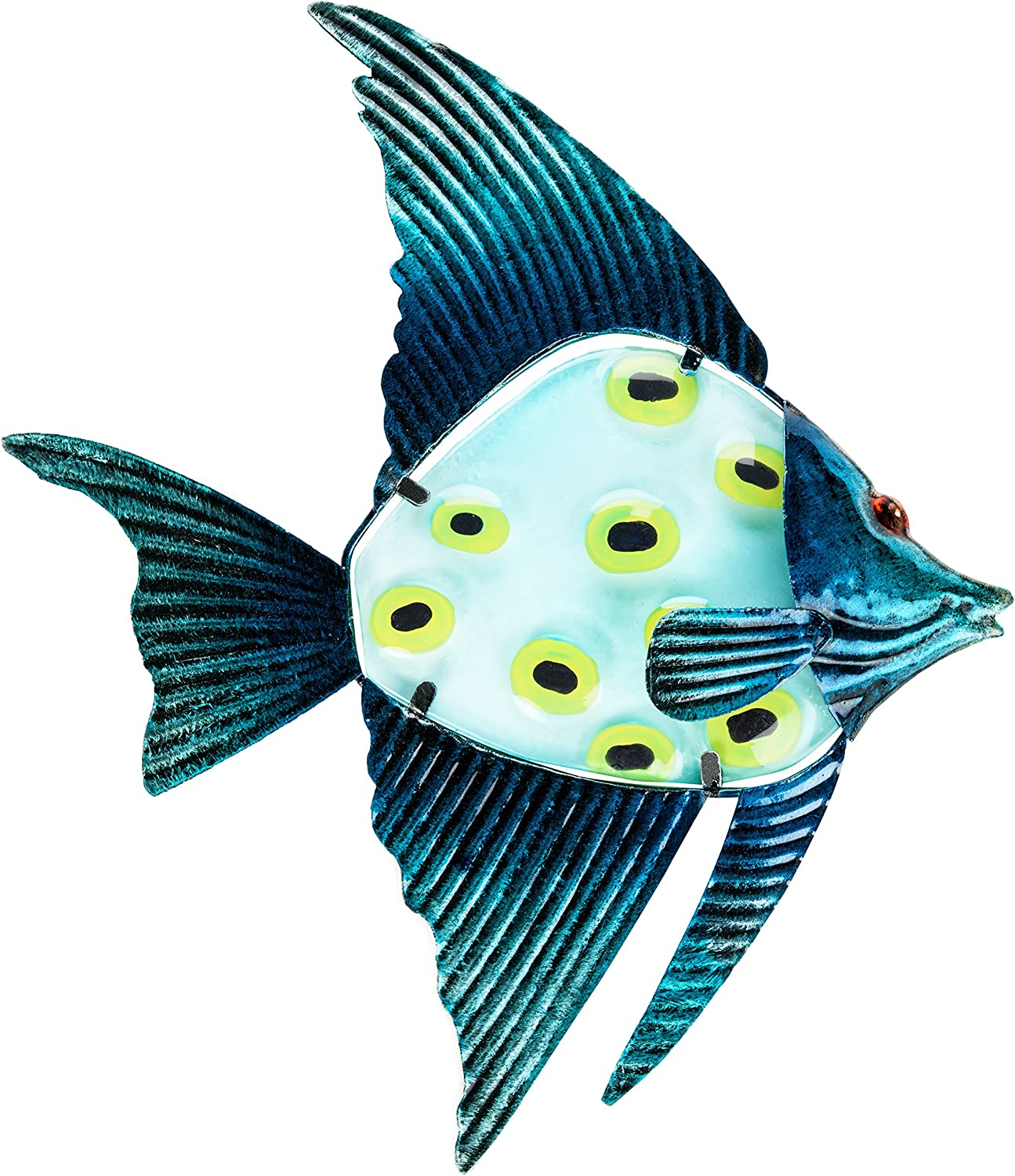 Amazon Com Patio Eden Nautical Fish Wall Art Decor Perfect Indoor Or Outdoor Hanging Beach Decoration 12 5 X 10 Inches Garden Outdoor