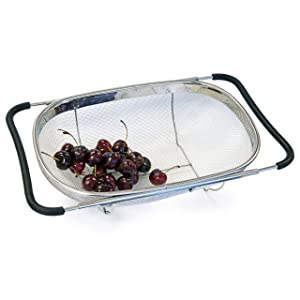 Culina Strainer Over-the-sink Oval, Stainless Steel Fine Mesh Expandable
