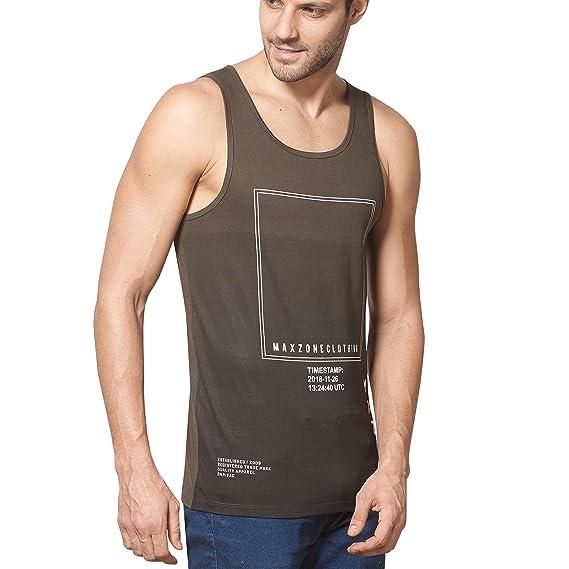 f81e19cfb3ffe2 Maxzone Premium Casual Slim Fit Tanks For Men  Amazon.in  Clothing    Accessories