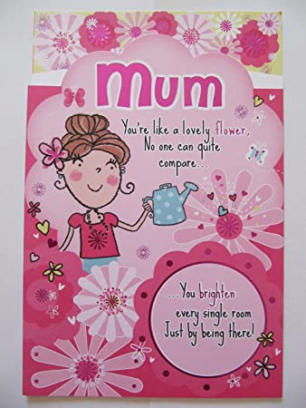 Große Gorgeous 3 Fold Gedicht Sie Wie Eine Blume Mama