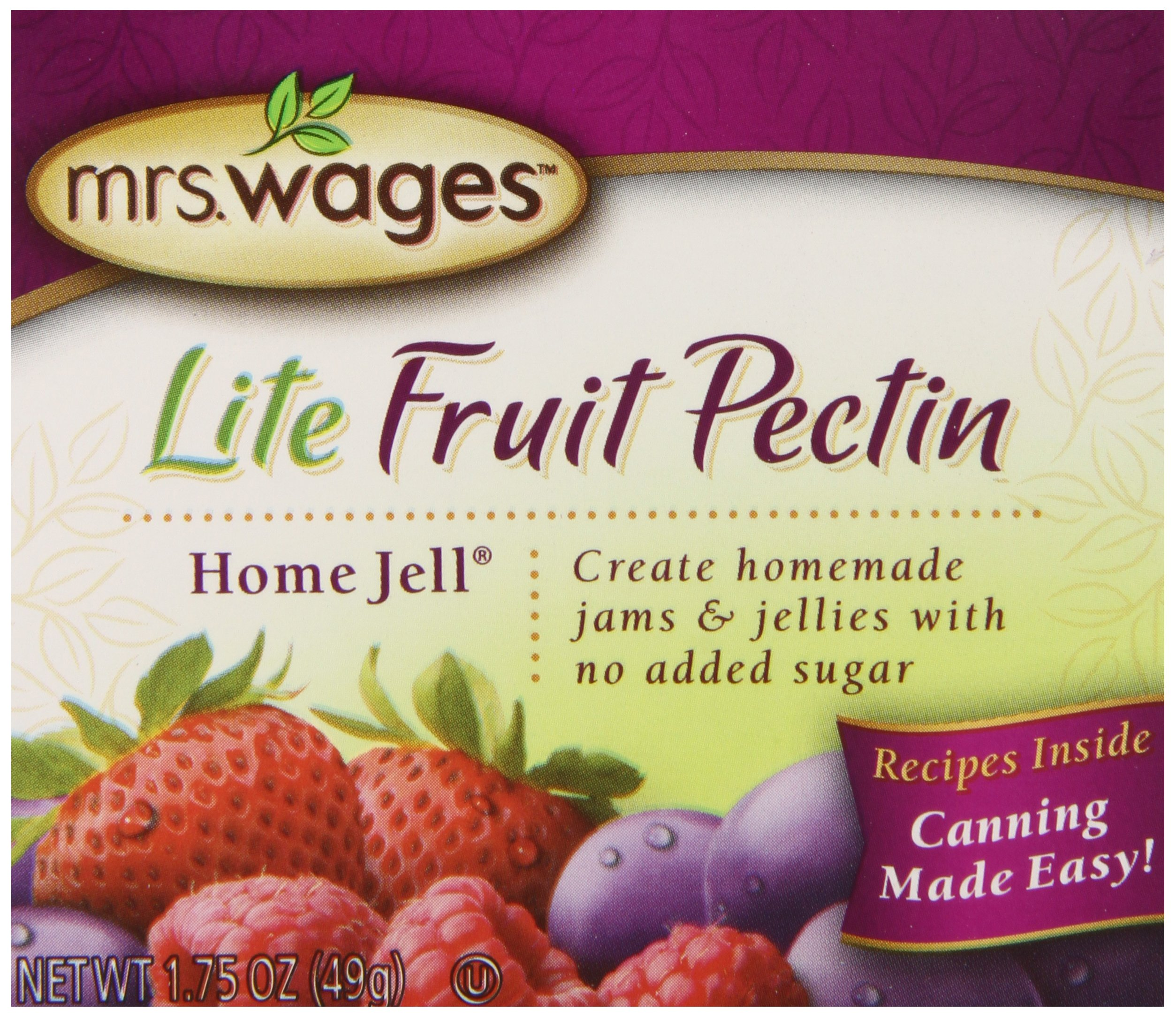 Mrs. Wages Lite Home Jell Fruit Pectin, 1.75-Ounce Pouches (Pack of 12) by Mrs. Wages (Image #1)