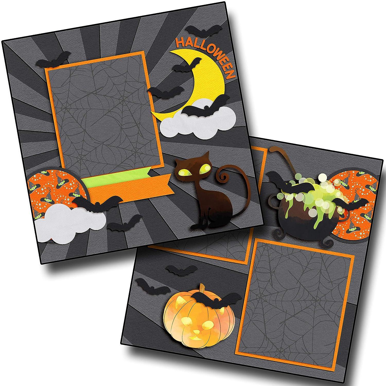 EZ Layout 4378 Premade Scrapbook Pages Halloween