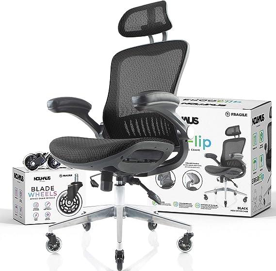 NOUHAUS ErgoFlip Mesh Computer Chair