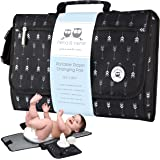 Portable Changing Pad Large | Waterproof Baby Changing Pad Station for Travel with Extra Padding for Comfort & Built-in…
