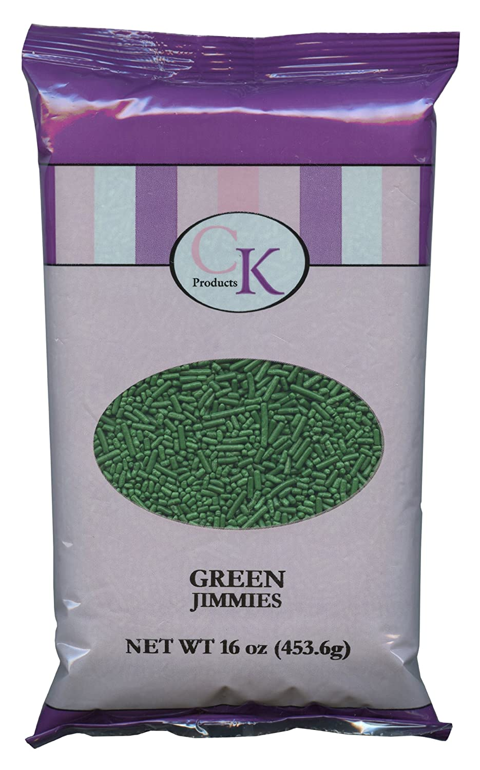 CK Products 16 Ounce Jimmies/Sprinkles Bag, Green
