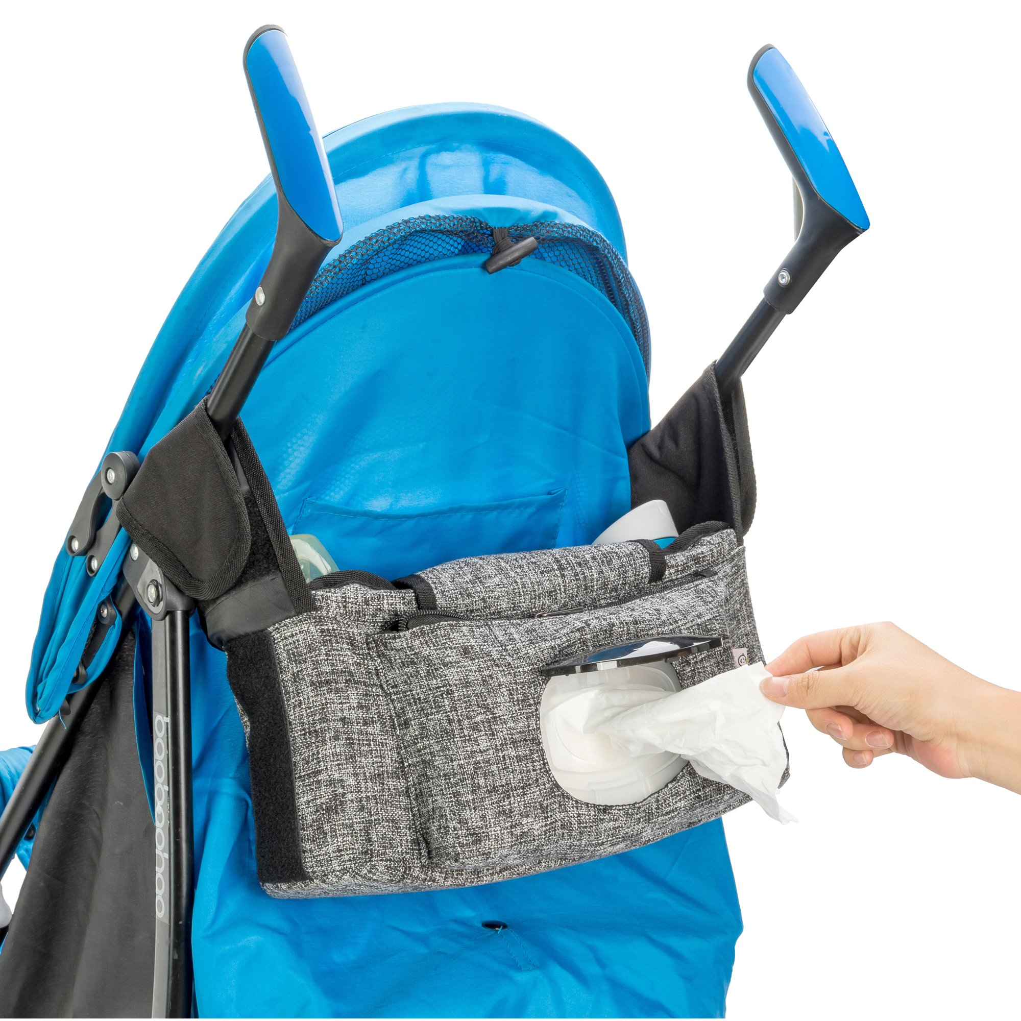 Agibaby Stroller Organizer, Insulated Deep Cup Holders, Instant Access Wipe Pocket, Universal Strap Fit, Large Storage Space by Agibaby (Image #5)