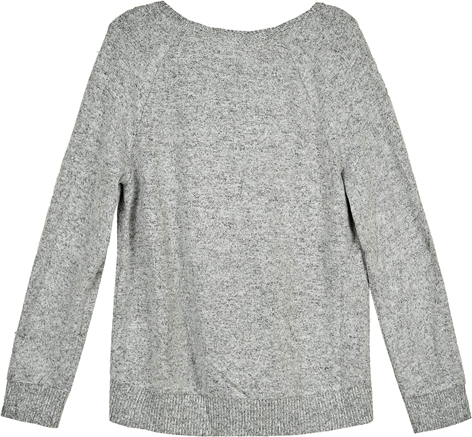 Amy Byer Girls Long Sleeve Bow on Shoulder Sweater Top
