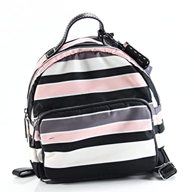 233b88bc170 Amazon.com | Tommy Hilfiger Women's Julia Dome Backpack Nylon Victory  Stripe Black/Pink One Size | Casual Daypacks
