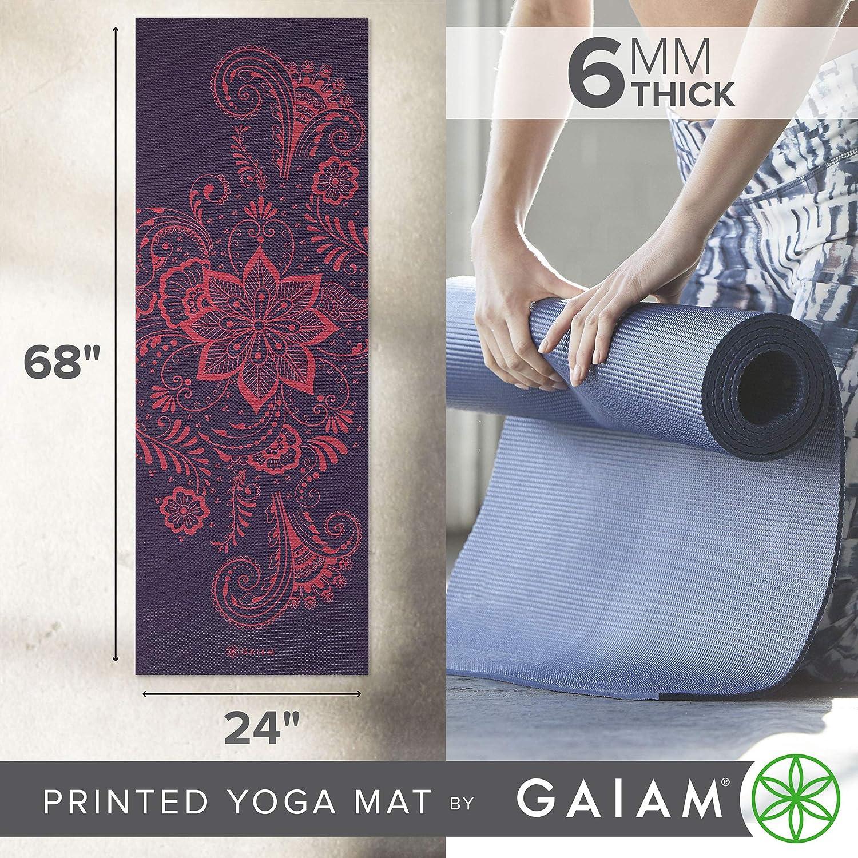 gaiam - Esterilla de Yoga Premium impresión, Color Morado ...