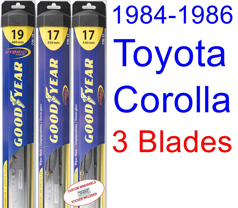 1984 - 1986 Toyota Corolla LE hoja de limpiaparabrisas de repuesto Set/Kit (Goodyear limpiaparabrisas blades-hybrid) (1985): Amazon.es: Coche y moto
