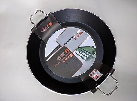 Paella Pan Vier para cocina de inducción, diámetro 46 cm