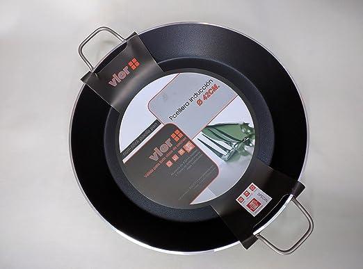 Paella Pan Vier para cocina de inducción, diámetro 46 cm ...